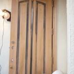古い木製玄関ドアのメンテ